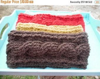 summer Knit look crochet ear warmer, crochet headband