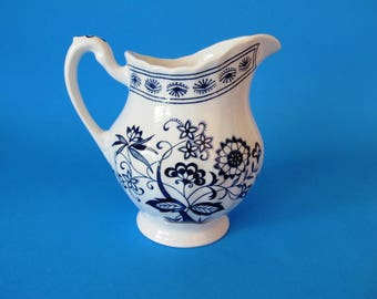 J. & G. Meakin, England, Blue Nordic, Blue Onion Creamer, English Ironstone
