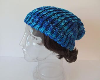 Slouch Hat, Blue Green Ombre, Older Child to Adult