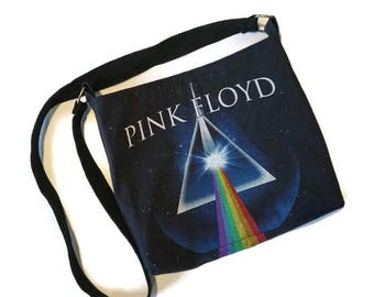 Pink Floyd Bag • Upcycled Tshirt Bag • Crossbody Bag • Pink Floyd Gift • Dark Side of the Moon • Pink Floyd Upcycled Purse