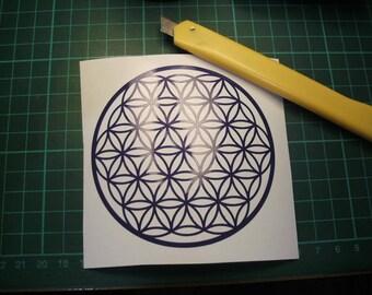 Small Flower of life Vinyl sticker 9cm