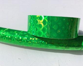 "3/4"" Neon Green Peacock Hula Hoop Tape"
