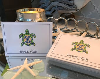 Cute Turtle Thank You Card Set of 10