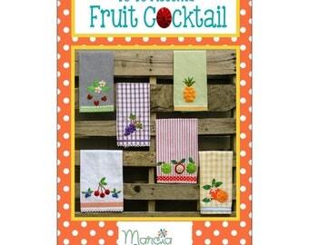 """Pattern """"Yo Yo Accents Fruit Cocktail"""" Kitchen Towel Designs by Marcia Layton Designs (MALFC2) Paper Pattern"""