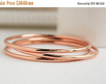 Rose Gold Bangles, Rose Gold Filled Bangles, Rose Gold Bracelet, Rose Gold Jewelry, Everyday Jewelry