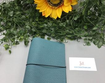 CJ03 - Dusty Turquoise  - ClassicJot Traveler's Notebook/Planner Cover/Journal