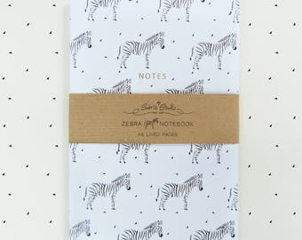 Notebook, Small notebook, Zebra notebook, A6 notebook, Pocket size, journal, notes