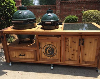 Dual Grill Cabinet For Kamado Joe, Primo Or Big Green Egg   Outdoor Kitchen