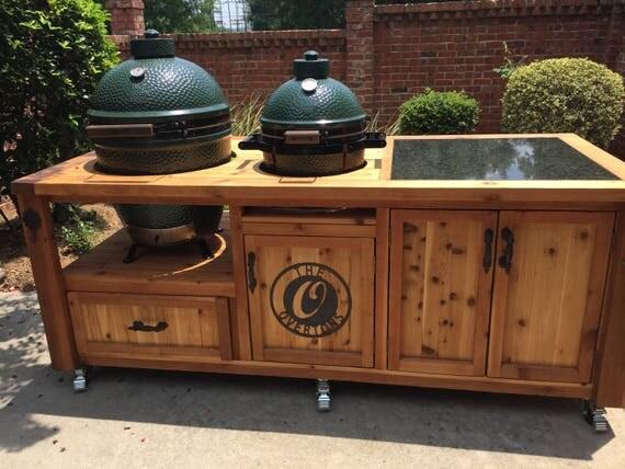Dual Grill Cabinet For Kamado Joe Primo Or Big Green Egg