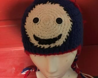 Thomas the tank hat, Thomas the tank beanie hat, boys winter hat, ear flap hat