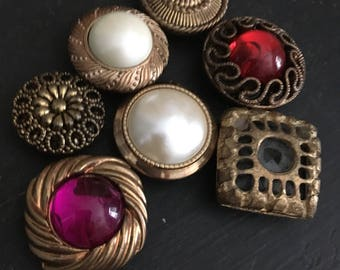 Button covers, vintage button covers, vintage jewelry