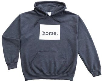 Homeland Tees Wyoming Home Pullover Hoodie Sweatshirt