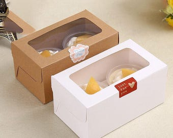 10x Cupcake Gift Boxes Wedding Party Baby Shower Favour Boxes Dessert Cup Cupcake Packaging Box