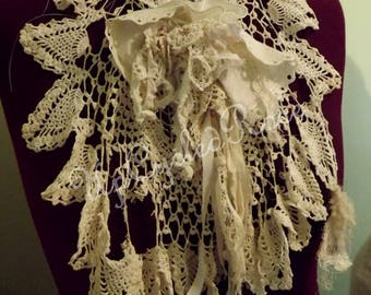 Shabby Couture Neck Lace Bohemian Collar Vintage Chic Ready to Ship