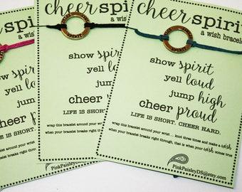 30 Cheer Spirit Wish Bracelets ... Great for Team Spirit ... Cheerleading Team Gifts ... School Spirit