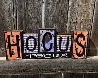 Halloween wood blocks--Hocus pocus blocks
