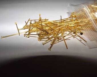 GOLD FLAT HEAD PIN