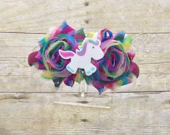 Unicorn Headband-Unicorn Birthday Bow-Unicorn Bow-Unicorn-Unicorn Party-Unicorn Clip-Unicorn Birthday