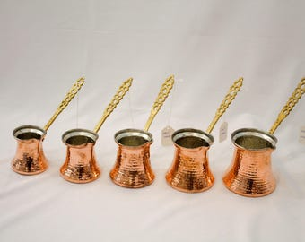 Handmade Copper Coffee Maker, Cezve, Turkish Coffee Maker, Espresso, Copper Cookware