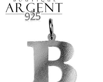 Charm letter B initial 925 sterling silver initials