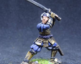 Okuran, Mercenary. Male Samurai Character for Dungeon and Dragons. Hand Painted Miniature from Reaper Miniatures