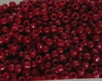 8/0 Seed Beads, Terra Cotta Opaque Red Seed Beads, 20 grams Seed Beads, Red Seed Beads, #J3472CL Japanese seed beads Item#641