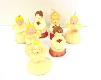 vintage tavern novelty Christmas candles / gurleycandles / choir boy candles / angel candles / candle lot