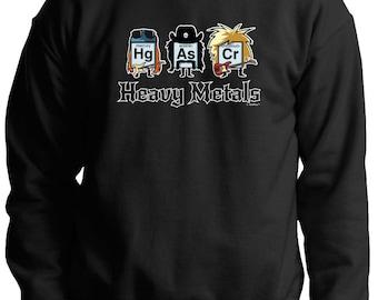 Funny Gift Heavy Metals Periodic Table Premium Crewneck Sweatshirt F260 - WRS-822