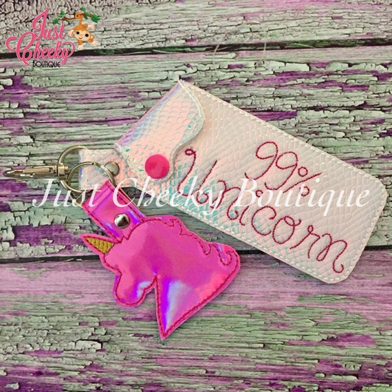 Tall Lipstick Keychain - LipSense Keychain - Lip Gloss Holder - Lipstick Holder - Lipsense Key Chain Holder - Lipsense Keychain - Unicorn