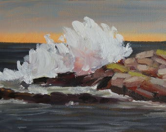 Original Fine Art, Oil Painting, End of the Storm