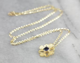 Sapphire Necklace, Flower Necklace, Something Blue, September Birthstone AR9EJ2DL-D