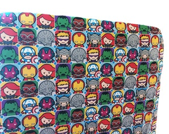 Superheroes - crib sheets for boy - marvel baby gift - fitted crib sheet - changing pad cover