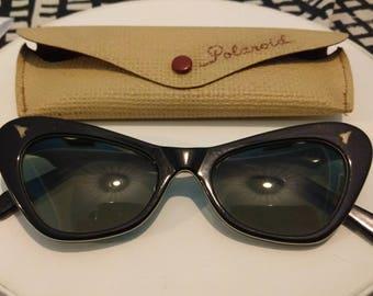 50s black Polaroid sunglasses
