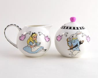 Alice's Tea Party Milk and Sugar Set