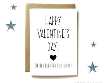 Dirty Valentineu0027s Day Card, Naughty Valentineu0027s Day Card For Boyfriend Or  Husband. Get Your