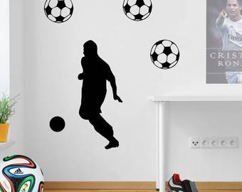 Football Figure Wall Sticker A73