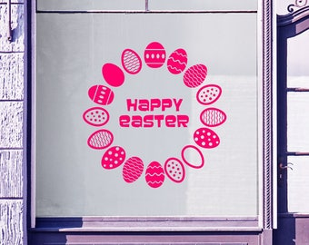 Easter Circle Wall Stickers A81
