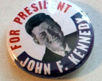 John F. Kennedy Genuine Imitation Campaign Button