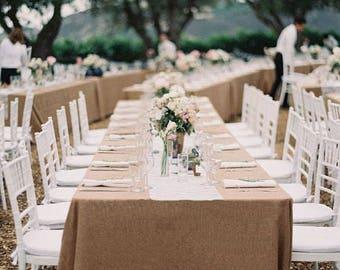 Thanksgiving Burlap Tablecloth, Rectangle Burlap Tablecloth, Burlap Table  Cover, Rustic Burlap Tablecloth,