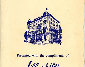 """1949 Booklet, """"London Weekly Diary Of Social Events"""""""