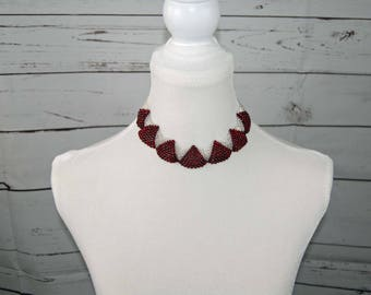 Ruby Wave Necklace