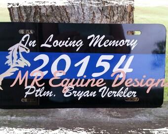 Personalized, Custom Fallen Officer Memorial License Plate