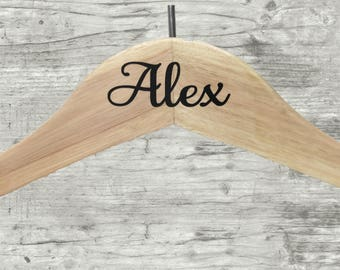 Wedding Dress Hangers, Personalized Wedding Hanger, Bride Dress Hanger, Bridesmaids Dress Hanger, Bridal Party Hangers, DECALS ONLY
