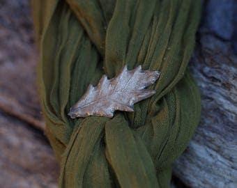 Oak Leaf Brooch - Brilliant Bronze