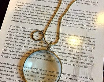 Gold Magnifying Glass Necklace