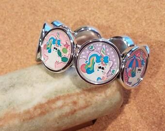Spring Unicorn STRETCH Bracelet - RTS