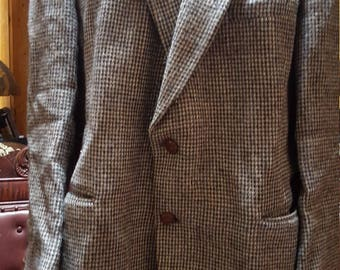 Vintage Harris Tweed Men's Handwoven Blazer Sold As Is