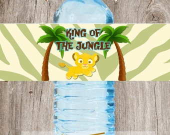 Baby Lion King Simba King of the Jungle Baby Shower Water Label Wrappers