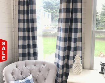 12 4th Of July 1 Pair Of Plaid Curtains Plaid Buffalo Plaid