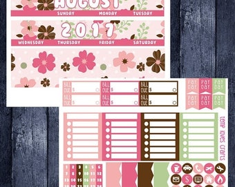 Weekend Sale August Monthly Stickers for HAPPY PLANNER